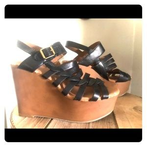 Lucky Brand platform wedges